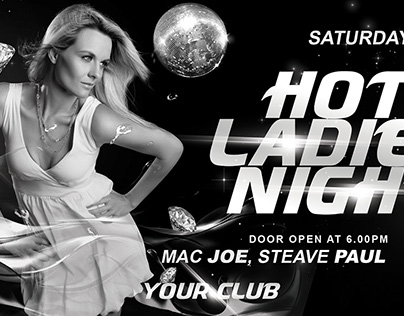 Hot Ladies Night Party Flyer