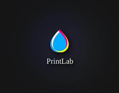 PrintLab. Logo template