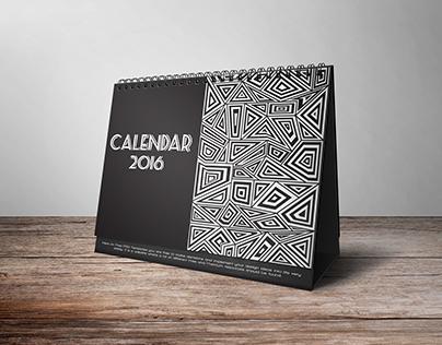 Desk Calendar Mock Up
