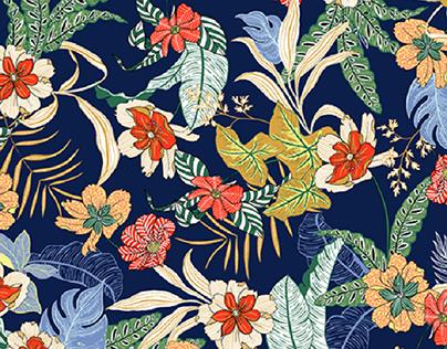 -jungle & textures print-