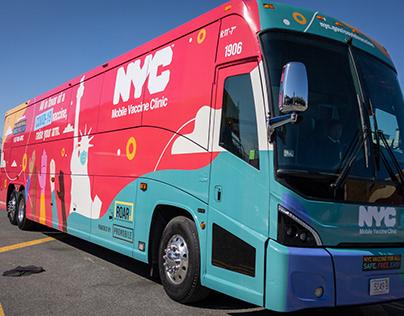 NYC's Mobile Vaccine Bus & Shuttles - Full Wrap Design