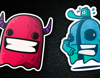 ghosts party stickers