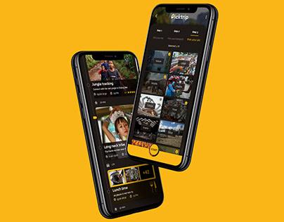 Travel app design for photographers - Picktrip