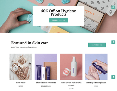 Beauty collection ecommerce website | Woocommerce