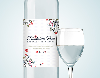 Blackstone Peak Bottle packaging