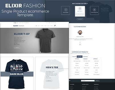 Single Product e-commerce PSD Template