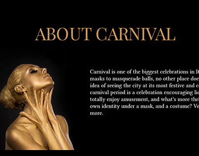 My Venice|Gold carnival