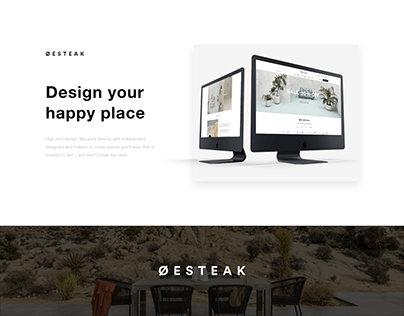 Oesteak Furniture Web & UI UX Design