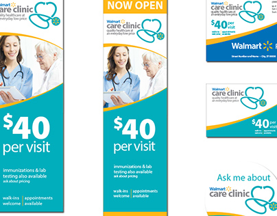 Walmart Care Clinic POS Materials