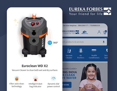 Eureka Forbes - Website Design