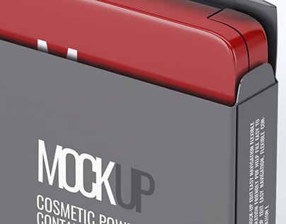 Cosmetic Powder Container Mock-Up