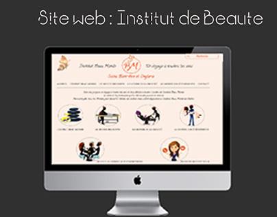 Site Web Institut de Beauté