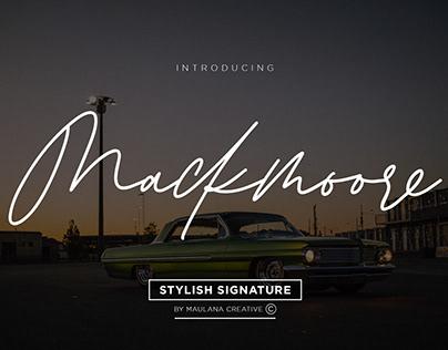Mackmoore Signature Font