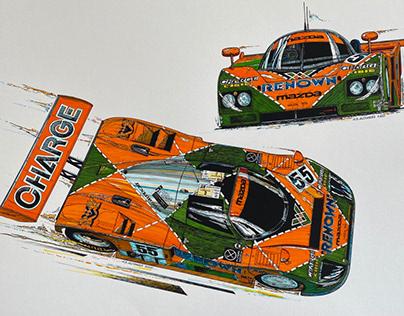 LeMans 1991 winner.! Mazda 767B race car.