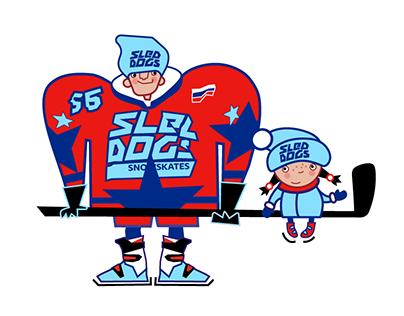 SLED DOGS HOCKEY
