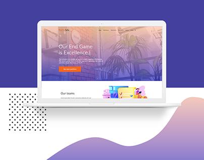 A Website Design demonstrating Career Tab.