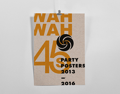 Wah Wah 45s posters 2013-2016