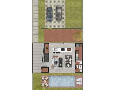 Floor plans MS House by Brasil Ecuador Arquitectura