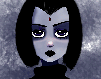 Raven Titans Art Wallpapers | Digital Sketch
