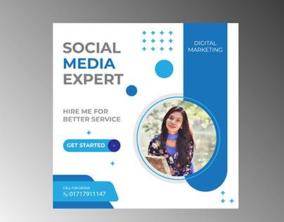 Banner for Promotion in Social Media