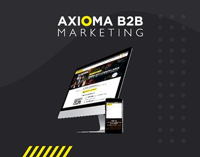 Rebranding y rediseño web Axioma B2B Marketing