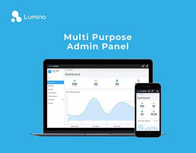 Lumino - Multi Purpose Admin Panel