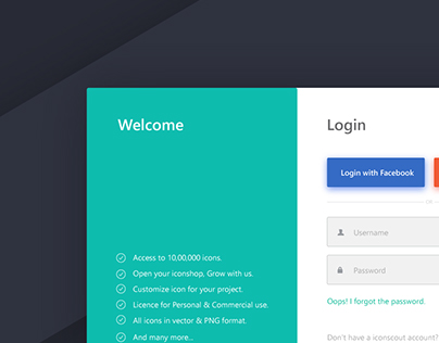 Iconscout : Login Page