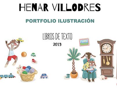 Portfolio Ilustración para Libros de texto 2019