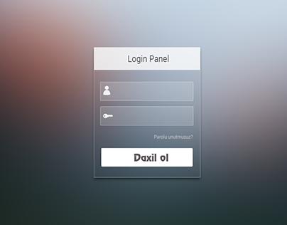 Mac OS style Login panel FREE PSD
