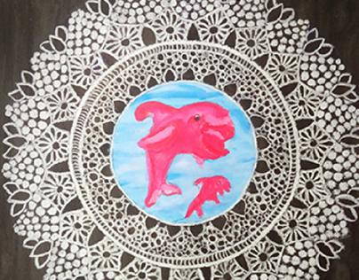 colourfull Mandala drawing