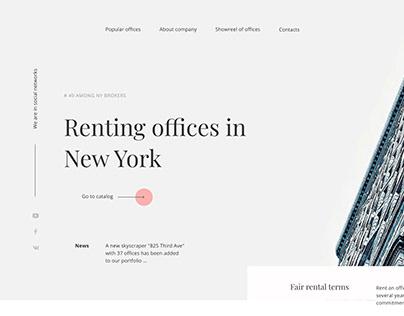 Website design office rent in New York