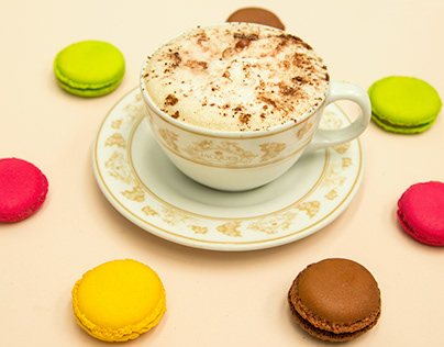 Macarons and Cappuccino