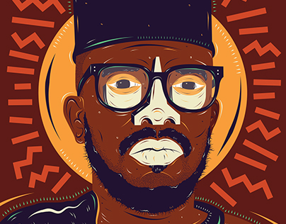 Commissioned Black Coffee Portrait - Hunters Cider