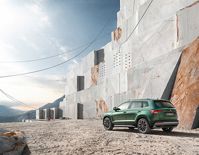 CGI location for Škoda Karoq Scout