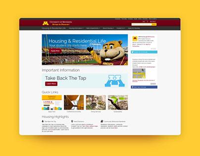 U of M Housing Website Redesign