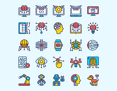 Artificial Intelligence Icon Set - Part 2