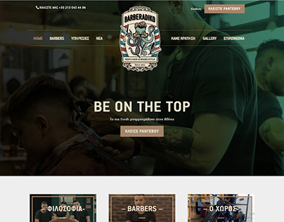 Barber shop WordPress website with Divi theme
