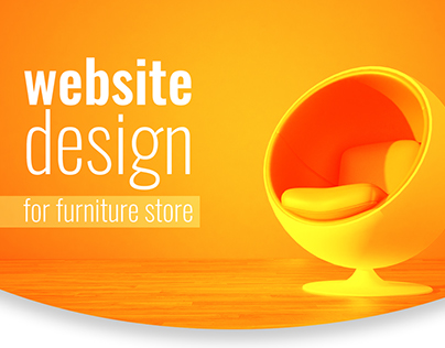 Website design for furniture store