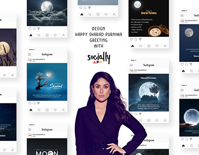 design happy sharad purnima greeting,post & story wish