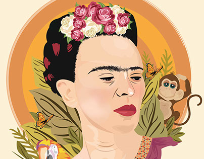 A tribute to Frida Kahlo