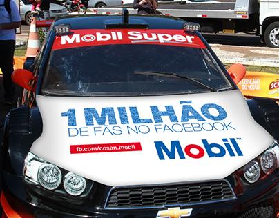 Identidade para comemoração de 1 milhão fãs Mobil