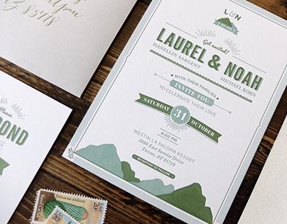 Desert Wedding Invites
