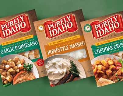 Brand + Package Redesign | Purely Idaho Potatoes