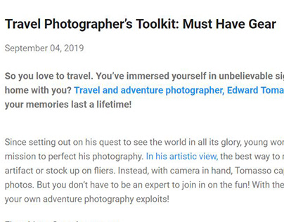 Travel Photography Toolkit (blog post)