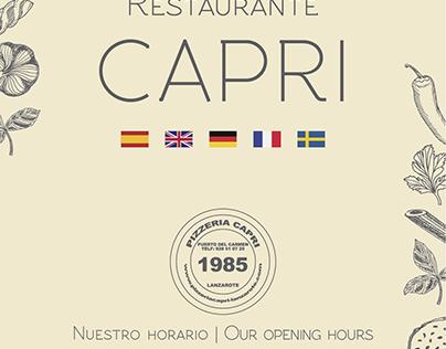 Pizzería Capri - Lanzarote, Islas Canarias, España
