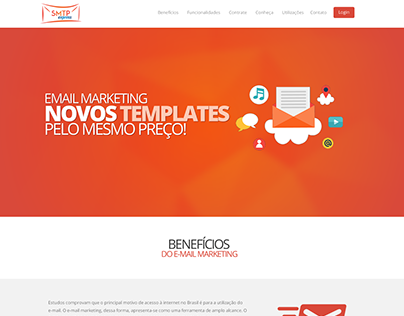 Layout do novo site SMTP Express