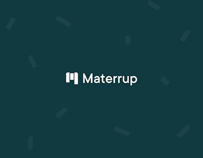 Materrup — Branding + Website