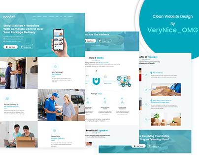Delivery App landing page design