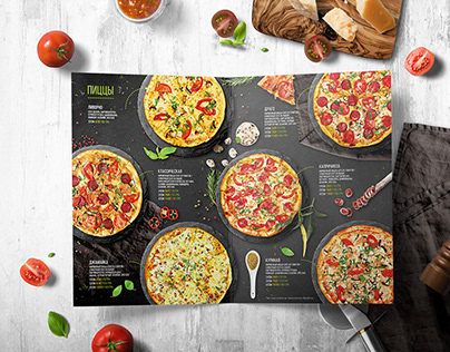 Menu and packing design for restaurant
