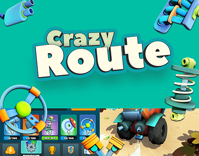 Crazy Route - UI/UX/3D art for mobile game